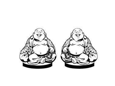 Fat Sungkajai Buddha iMage Vector