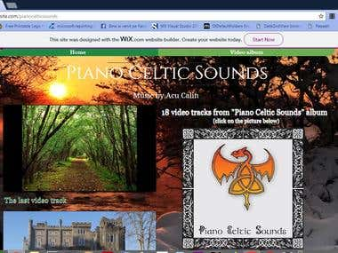 "Album ""Piano Celtic Sounds"". Music by Acu Calin Ioan"