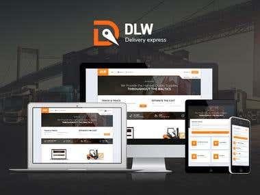 Responsive logictics company website, mobile app