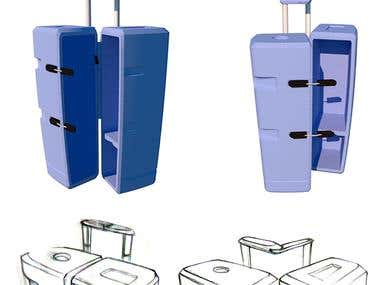 Concept design for carry-on luggage