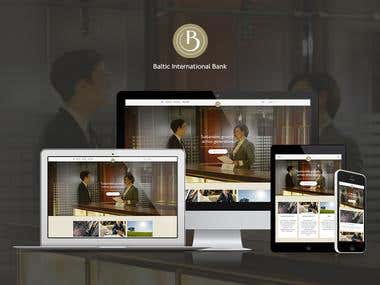 Responsive banking website & system