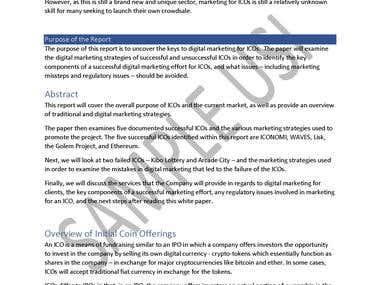 Digital Marketing Strategy / ICO White Paper
