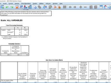 Sample SPSS Work