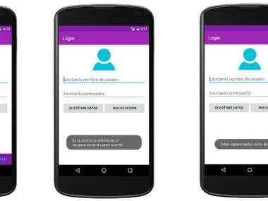 Android App Login, logical layout