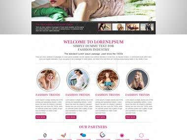 Fashion Website PSD
