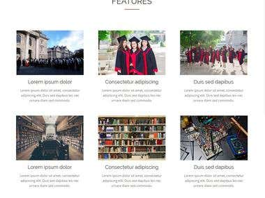 Single page College Website with Admin-Panel