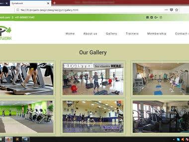 web design for GYM website