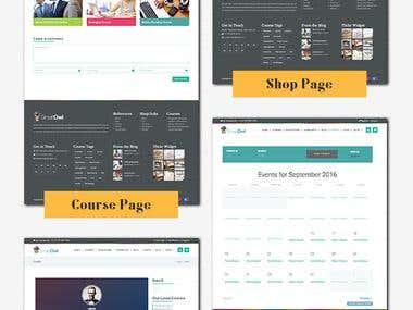 Wordpress theme for online courses