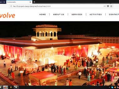 Web design for Event company