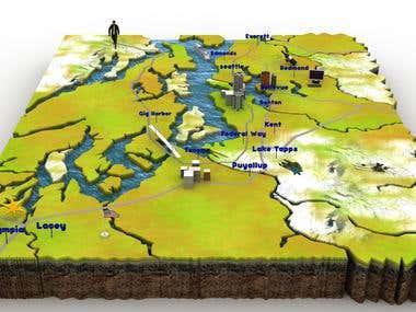 3D Map Design
