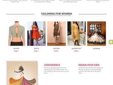 Customised Online stitching eCommerce
