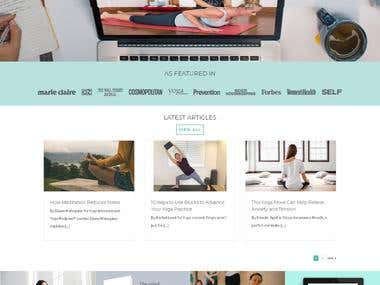 Wordpress Website for Medical Community - Yoga Medicine