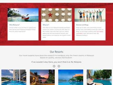 Travel Holiday Booking Web Portal