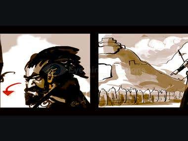 Future FIlm Story Board - Illustration