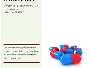 VITAMINS, SUPPLEMENTS AND NUTRITIONAL MANUFACTURING
