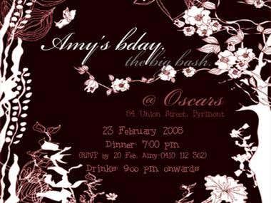 Graphic Design - Invitations