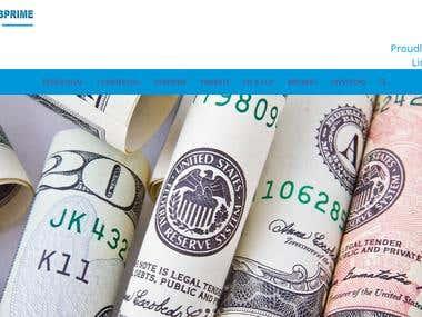 Website Design and Development For subprime lenders californ