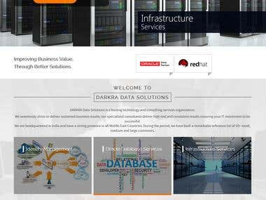 Data Solution Website Design