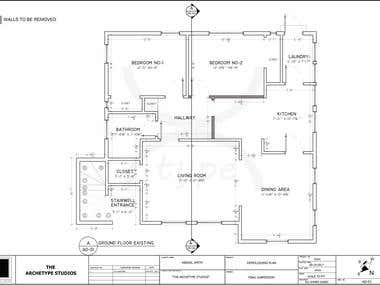 Architectural Drawings for Residential/Commercial Projects.