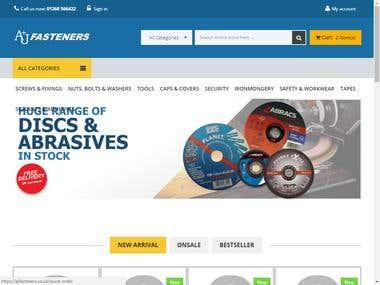 Prestashop :- A & J fasteners
