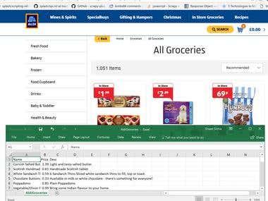 Web Scraping | e-retail