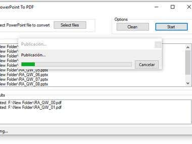 PowerPoint to PDF converter