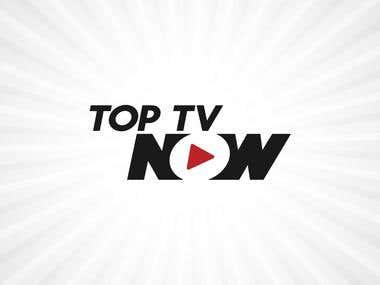 Top TV Now logo design