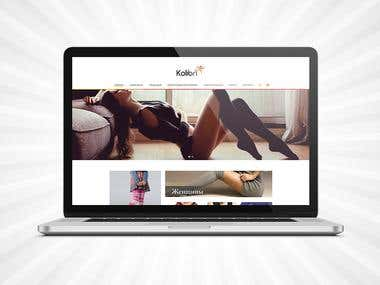 Kolibri Shop website design