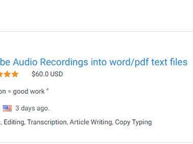 Audio to Text Transcription