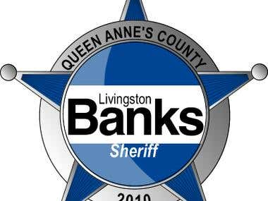 Logo, Website and Marketing Materials - Banks for Sheriff