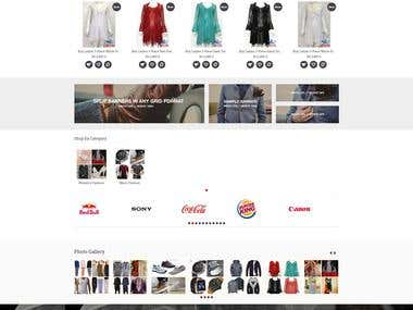 Shopping Site using OpenCart