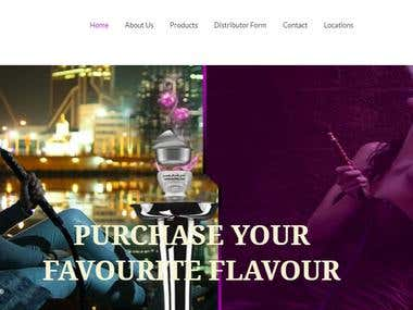 Website Design and Development For www.shishaxpresso.com/