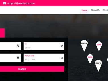 Website Design and Development For www.roadicabs.com