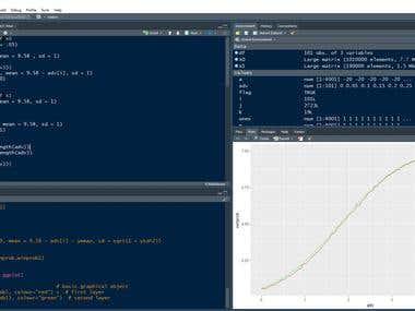 Statistical Processing Using R Studio