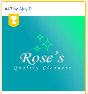 Logo for cleaning business