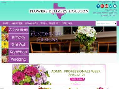 E-commerce website !! Flower delivery !! Magento