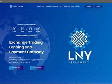 leigonphy ICO design and functionality website