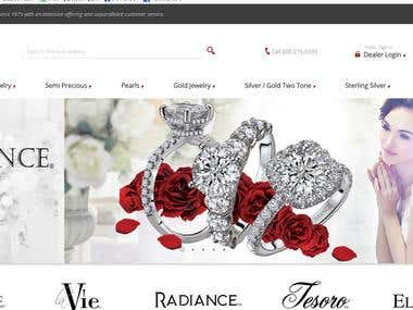 E-commerce website !! Magento !! Jewlery website