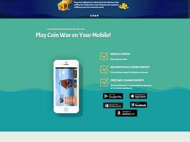 Coin War ( Mobile Game Website)