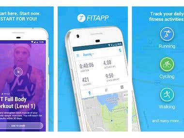 GPS TRACKING FIT APP