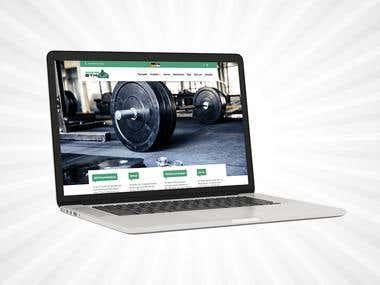 Monster Gym web design