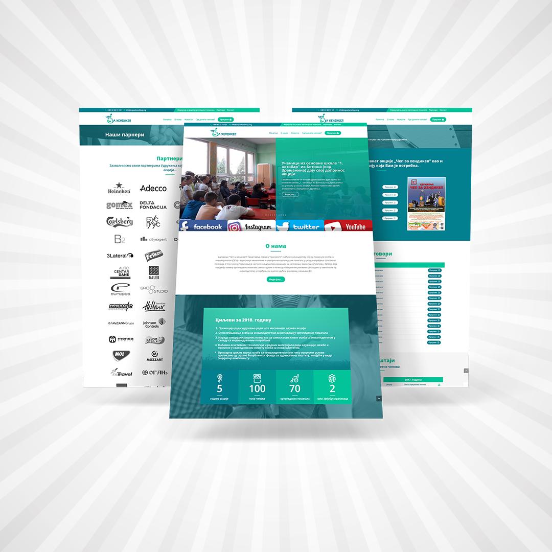 Čep Za Hendikep website design