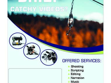 Flyer for videography services.
