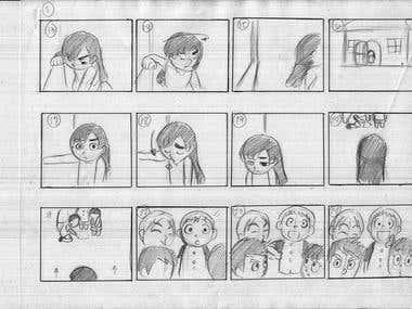 Rough Storyboard Illustration