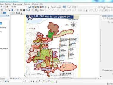 Georeferenciación y digitalización de cartografía