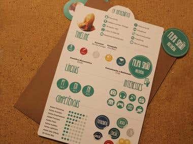 Identidade Corporativa + CV Infográfico