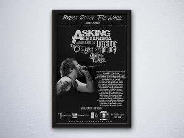 Asking Alexandria Tour Poster