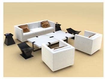 Living room 3d model.