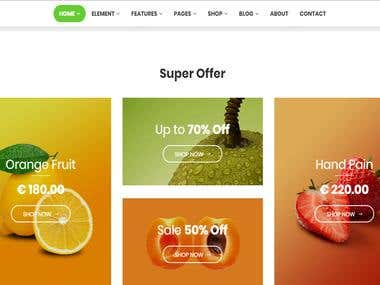 Food Supplier Website