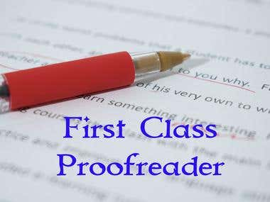 1st Class Proofreader